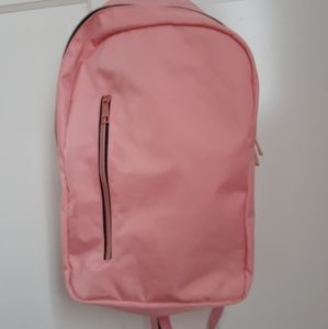 Pink Backpack with Rose Gold Zipper